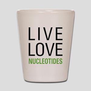 Live Love Nucleotides Shot Glass