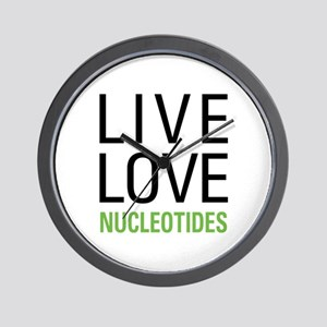 Live Love Nucleotides Wall Clock