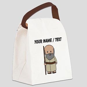 Custom Old Roman Man Canvas Lunch Bag