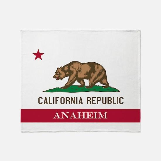 Funny Anaheim california Throw Blanket