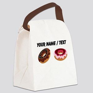 Custom Donuts Canvas Lunch Bag