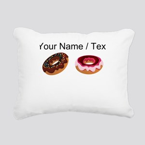 Custom Donuts Rectangular Canvas Pillow