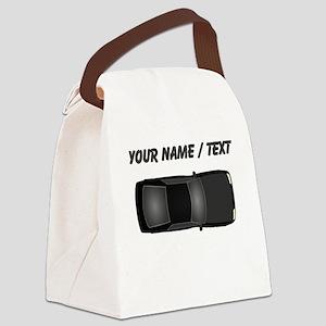 Custom Black Car Canvas Lunch Bag