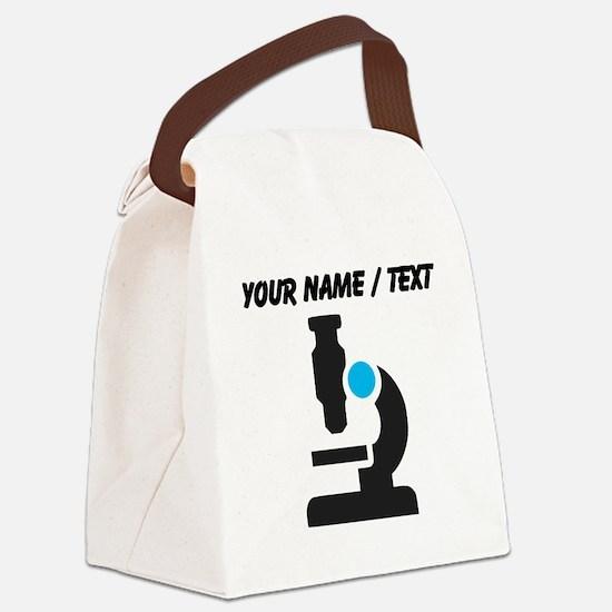 Custom Microscope Canvas Lunch Bag