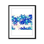 Blue flowers Framed Panel Print