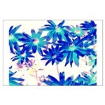 Blue flowers Posters