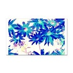 Blue flowers Rectangle Car Magnet