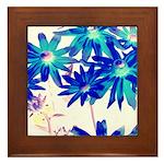 Blue flowers Framed Tile