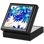 Blue flowers Keepsake Box