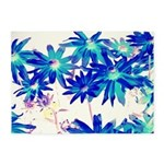 Blue flowers 5'x7'Area Rug