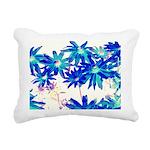 Blue flowers Rectangular Canvas Pillow