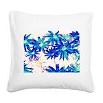 Blue flowers Square Canvas Pillow