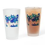 Blue flowers Drinking Glass