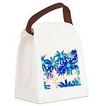Blue flowers Canvas Lunch Bag