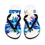 Blue flowers Flip Flops