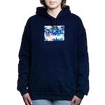 Blue flowers Women's Hooded Sweatshirt