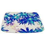 Blue flowers Bathmat