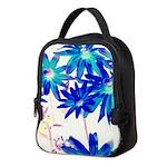 Blue flowers Neoprene Lunch Bag