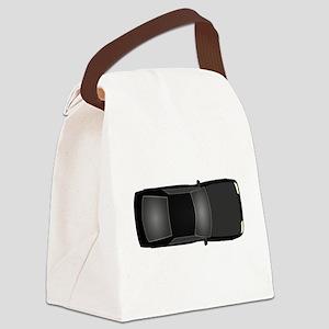 Black Car Canvas Lunch Bag