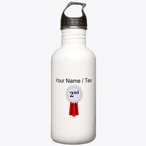 Custom 2nd Place Ribbon Water Bottle
