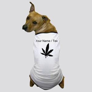 Custom Black Weed Leaf Dog T-Shirt