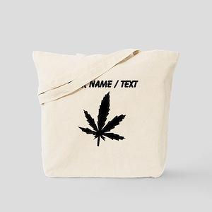Custom Black Weed Leaf Tote Bag