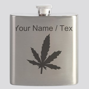 Custom Black Weed Leaf Flask