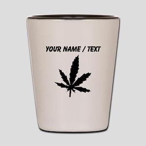 Custom Black Weed Leaf Shot Glass