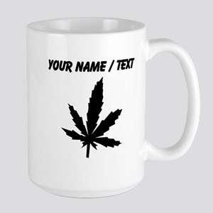 Custom Black Weed Leaf Mugs