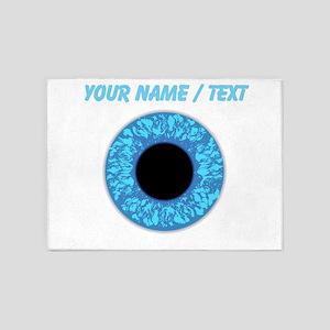 Custom Blue Eye Ball 5'x7'Area Rug