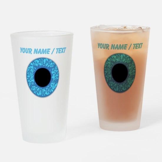 Custom Blue Eye Ball Drinking Glass