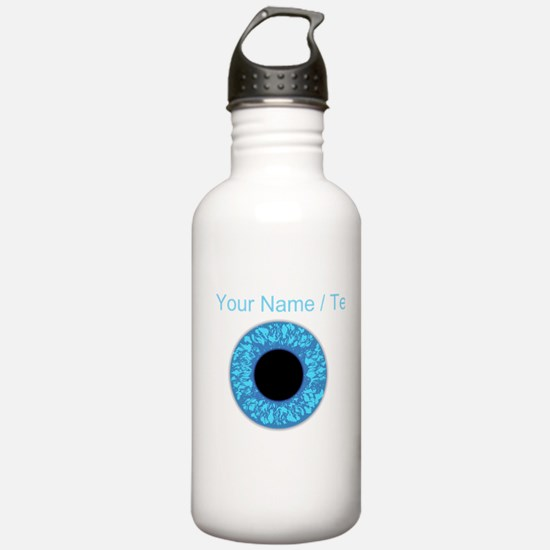 Custom Blue Eye Ball Water Bottle