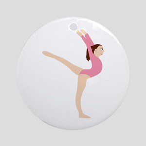 Gymnast Girl Ornament (Round)