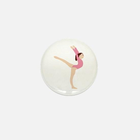 Gymnast Girl Mini Button