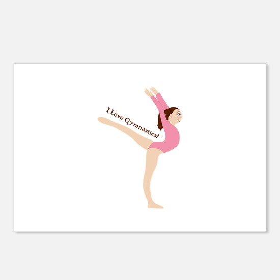 I Love Gymnastical Postcards (Package of 8)