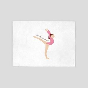 I Love Gymnastical 5'x7'Area Rug