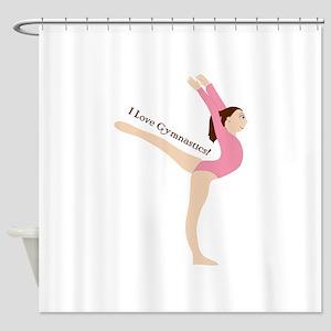 I Love Gymnastical Shower Curtain