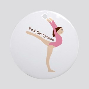 Rock Star Gymnast Ornament (Round)