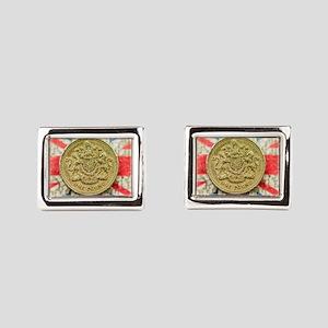 One Pound Rectangular Cufflinks