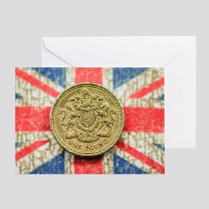 One Pound Greeting Card