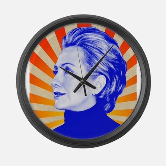 Hillary Clinton Large Wall Clock
