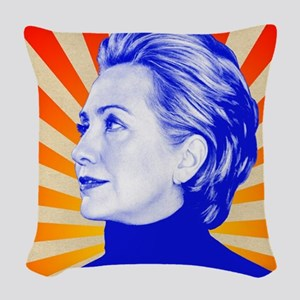 Hillary Clinton Woven Throw Pillow