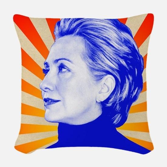 Hillary Clinton Woven Throw Pillow
