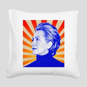 Hillary Clinton Square Canvas Pillow