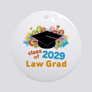 2029 Law School Grad Class Ornament (Round)