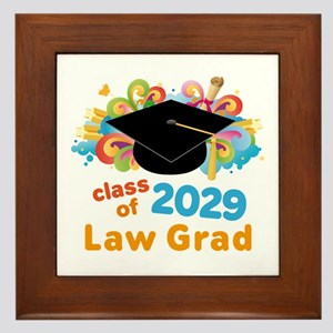 2029 Law School Grad Class Framed Tile