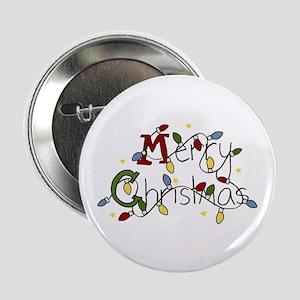 "Merry Christmas Lights 2.25"" Button"