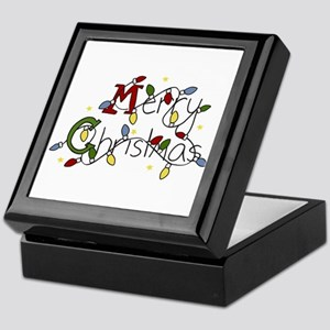 Merry Christmas Lights Keepsake Box