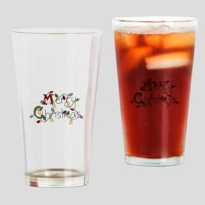 Merry Christmas Lights Drinking Glass
