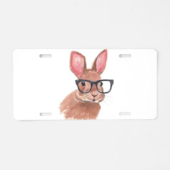 Nerd Bunny Aluminum License Plate